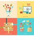 Supermarket Flat Set vector image