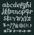 Chalk alphabet hand drawn font vector image