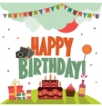 Birthday party background vector image