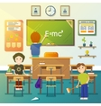 Kids cleaning classroom vector image vector image