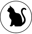 Black silhouette of cat vector image