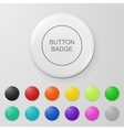 Blank button badge vector image