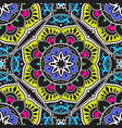 colorful mandala pattern vector image