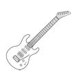 dark contour electric guitar technical vector image