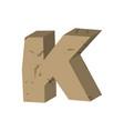 letter k stone font rock alphabet symbol stones vector image