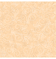 light beige seamless floral background vector image