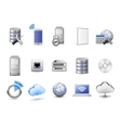 Network devices and computing icons vector image