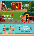 New year and christmas banners vector image