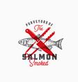 purveyors of the smoked salmon abstract vector image