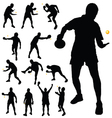 table tennis player silhouette vector image
