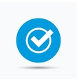 Tick icon Check or confirm sign vector image