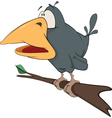 Raven from a fairy tale Cartoon vector image vector image
