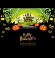 a happy halloween landscape vector image