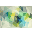 abstract blue green low poly background vector image vector image