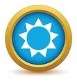 Gold sun icon vector image vector image
