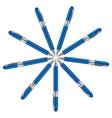 navy ball pens vector image