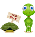 turtle sell his shell vector image vector image