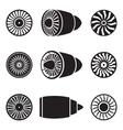 Turbines icons vector image