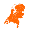 Map of thr Netherlands vector image
