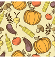vegetables in retro style seamless pattern vector image vector image