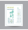 Wedding Invitation Card - Save the Date vector image
