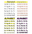 alphabet white background vector image