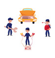 auto mechanic car service repair and maintenance vector image