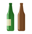 Beer bottles on a white background vector image