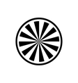 Circle with radial rays icon simple style vector image