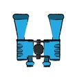 drawing binoculars accesorie tourism camping vector image