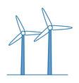 isolated wind energy vector image