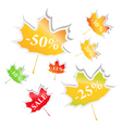 maple stickers vector image