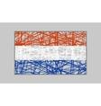 Netherlands flag design concept vector image