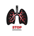 stop smoking concpet vector image