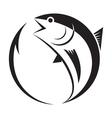 symbol tuna and hook vector image