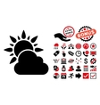 Weather Flat Icon with Bonus vector image