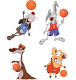 The basketball players Clip Art Cartoon vector image vector image