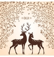 Deer trees vector