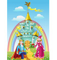 Handsome prince asked the hand of Princess near vector image