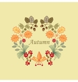autumn wreath vector image