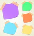 sticky memo notes vector image