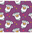 seamless pattern with cute baby bodysuit vector image