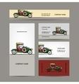 Business cards design retro car vector image