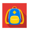 blue school bag a school bag for a book and vector image