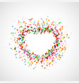 bright colorful catching heart shape background - vector image