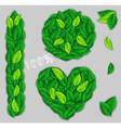 elements of green leaves vector image