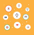 icons flat style email promotion target brand vector image