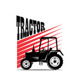logotype tractor - vector image