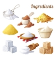 Set of food icons Ingredients for cooking vector image