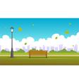 Summer City Park vector image